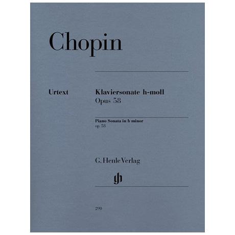Chopin, F.: Klaviersonate h-Moll Op. 58