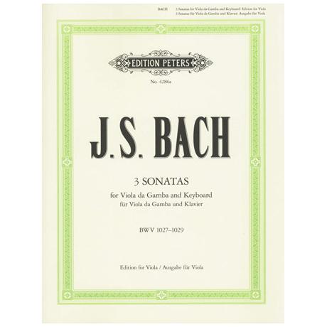 Bach, J.S.: 3 Violasonaten (orig. Viola da gamba) BWV 1027-1029