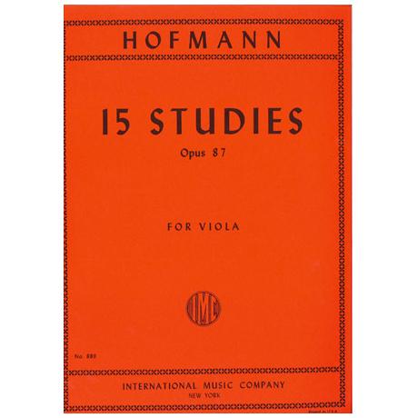 Hofmann, R.: 15 Etüden Op. 87