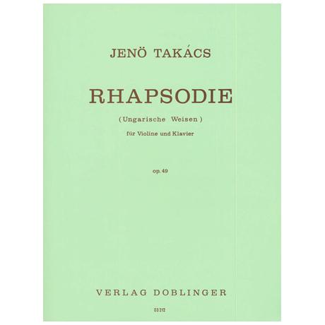 Takacs, J.: Rhapsodie Op. 49 (Ungarische Weisen)