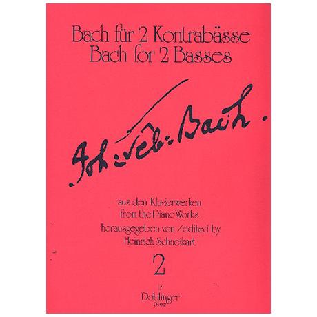 Bach, J. S.: Übungsmusik für 2 Kontrabässe Band 2 – 10 Präludien, Fughetta, Fuge