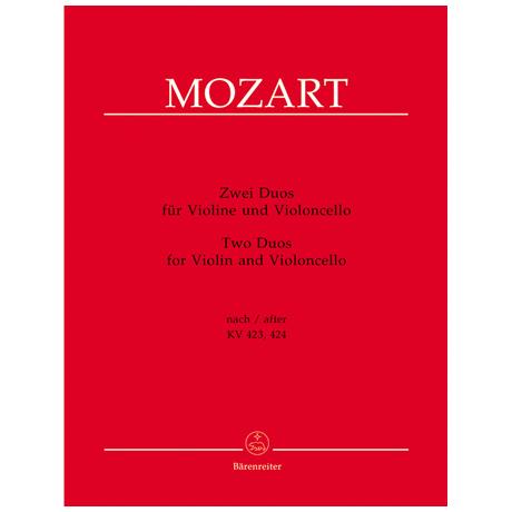 Mozart, W. A.: Zwei Duos nach KV 423 und 424