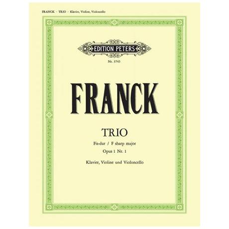 Franck, C.: Klaviertrio fis-moll, op. 1/1