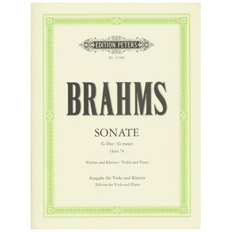 Brahms, J.: Violasonate Op. 78 G-Dur