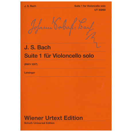 Bach, J. S.: Cello-Suite Nr. 1 BWV 1007 G-Dur