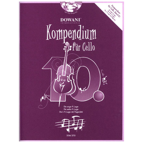 Kompendium für Cello - Band 10 (+CD)