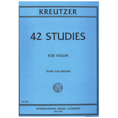 Kreutzer, R.: 42 studies for violin