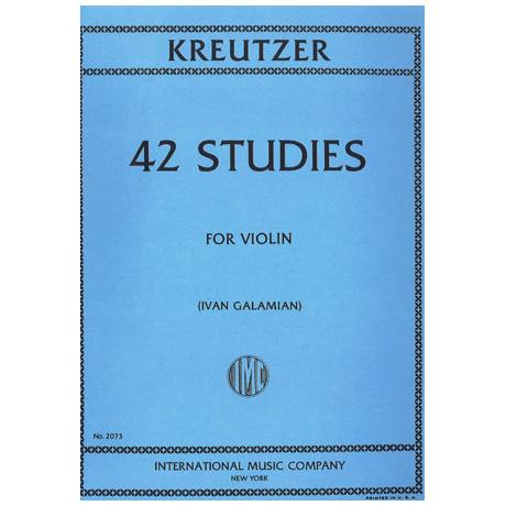Kreutzer: 42 studies for violin (Galamian)