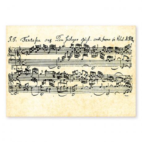 Postkarte Bach