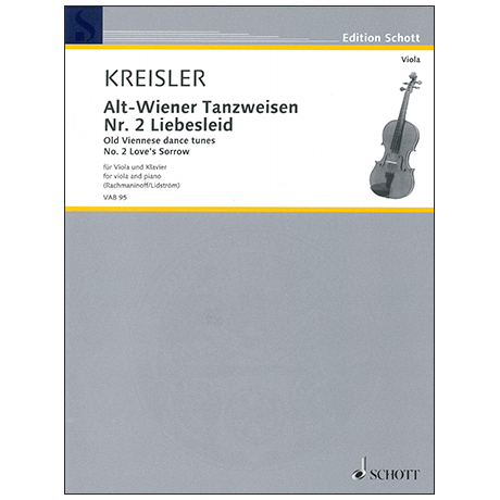 Kreisler, F.: Alt-Wiener Tanzweisen Nr. 2 – Liebesleid