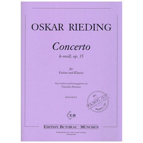 Rieding, O.: Violinkonzert Op. 35 h-Moll (+CD)
