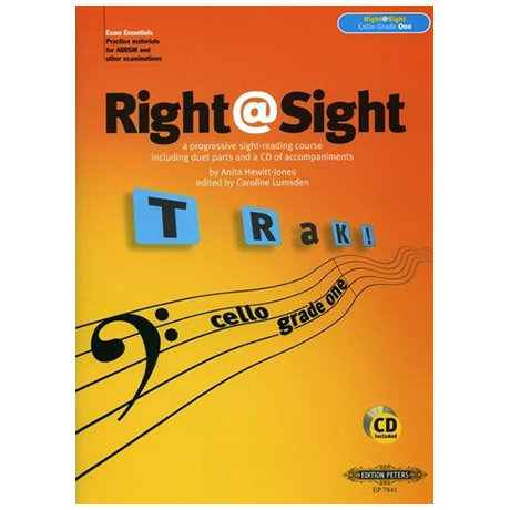 Lumsden, C.: Right@Sight for Cello Grade 1 (+CD)
