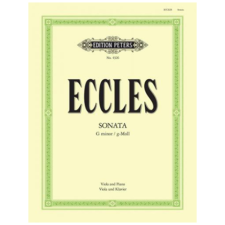 Eccles, H.: Violasonate g-Moll