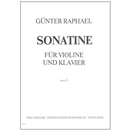 Raphael, G.: Violinsonatine Op. 52 h-Moll