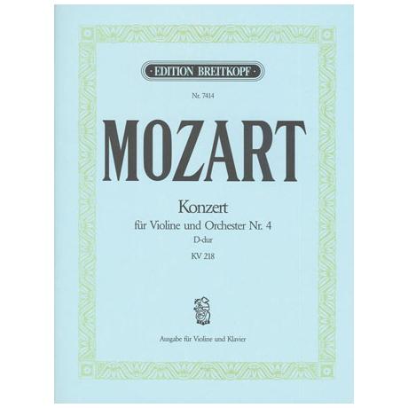 Mozart, W. A.: Konzert Nr. 4 KV 218 D-Dur