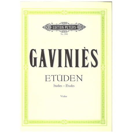 Gavinies: 24 Etüden