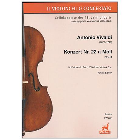 Vivaldi, A.: Violoncellokonzert Nr.22 a-moll RV419