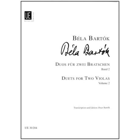 Bartók, B.: Duos aus den 44 Duos für 2 Violen Bd. 2