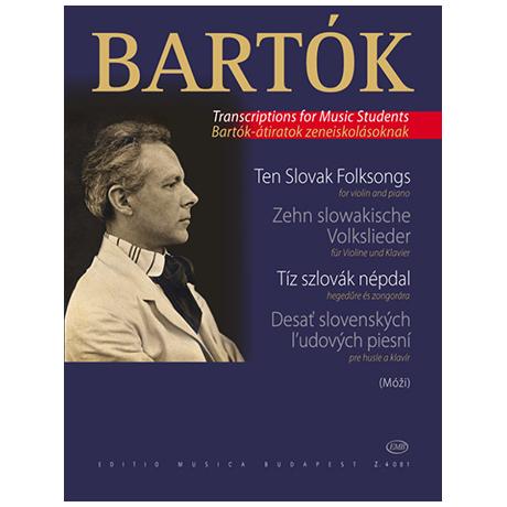 Bartók, B.: 10 slowakische Volkslieder (aus: Für Kinder)