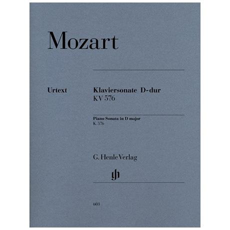 Mozart, W. A.: Klaviersonate D-Dur KV 576