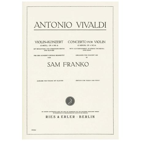 Vivaldi, A.: Violinkonzert Nr. 6 Op. 4 g-Moll