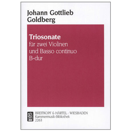 Goldberg, J. G.: Triosonate B-Dur