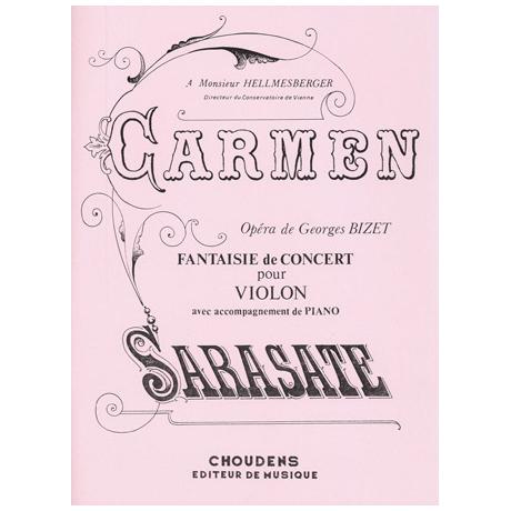 Sarasate, P. d.: Carmen Fantaisie de Concert Op. 25