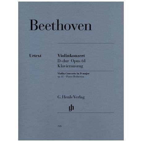 Beethoven, L.v.: Violinkonzert D-Dur, Op. 61 Urtext, Kadenz: Levin