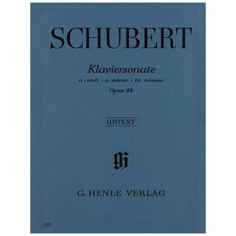 Schubert, F.: Klaviersonate a-Moll Op. 42 D 845