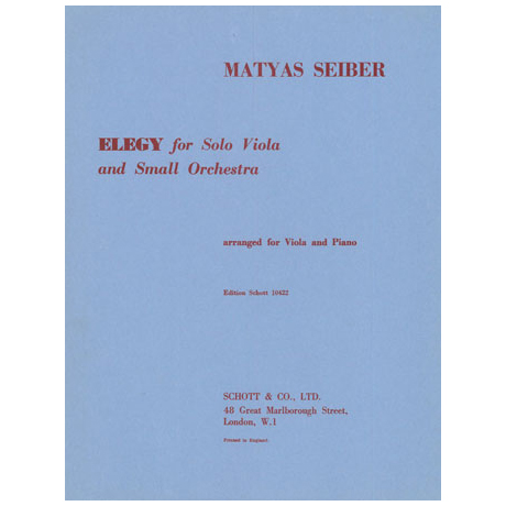 Seiber, M.: Elegie