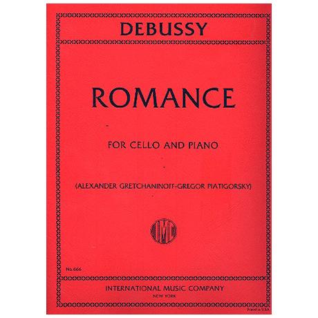 Debussy, C.: Romance (Piatigorsky)