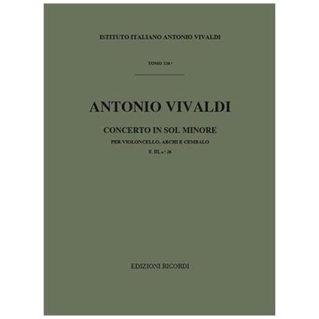 Vivaldi, A.: Violoncellokonzert Nr. 19 RV 416 g-Moll – Partitur