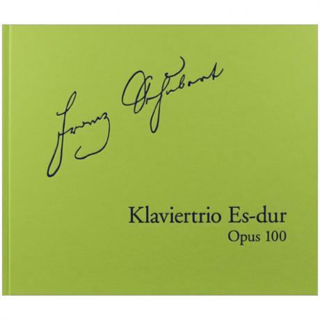 Schubert, F.: Klaviertrio D 929 Op. 100 Es-Dur – Faksimile