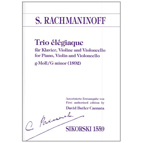 Rachmaninow, S.: Trio elegiaque g-Moll
