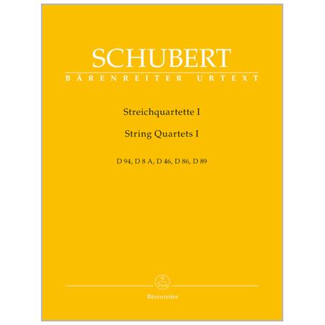Schubert, F.: Streichquartette I
