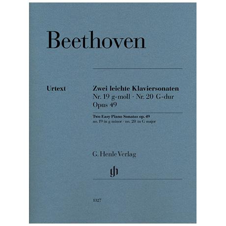 Beethoven, L. v.: Zwei leichte Klaviersonaten Op. 49 Nr. 19 g-Moll / Nr. 20 G-Dur