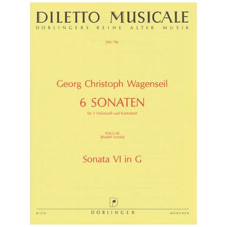 Wagenseil, G. C.: 6 Sonaten Band 6 Nr. 6 G-Dur