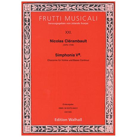 Clérambault, N.: Simphonia Va. - Chaconne