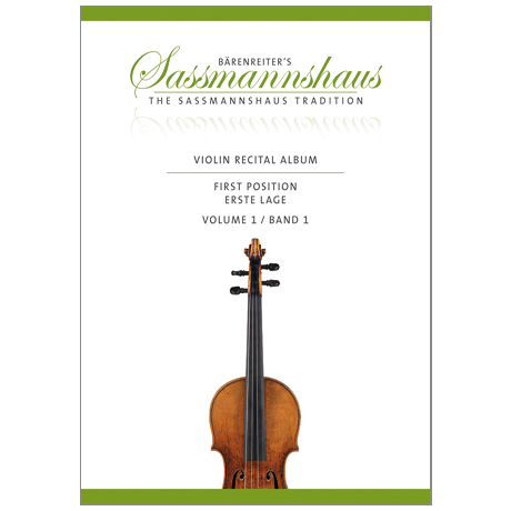 Sassmannshaus, K.: Violin Recital Album Band 1