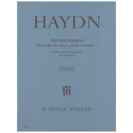 Haydn, J.: Variationen über die Hymne »Gott erhalte« aus dem Kaiserquartett Hob. III:77 G-Dur
