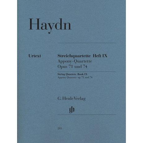 Haydn, J.: Streichquartette Heft 9: Op. 71/1-3, 74/1-3 (Appony-Quartette) Urtext