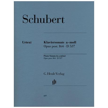 Schubert, F.: Klaviersonate a-Moll Op. post. 164 D 537