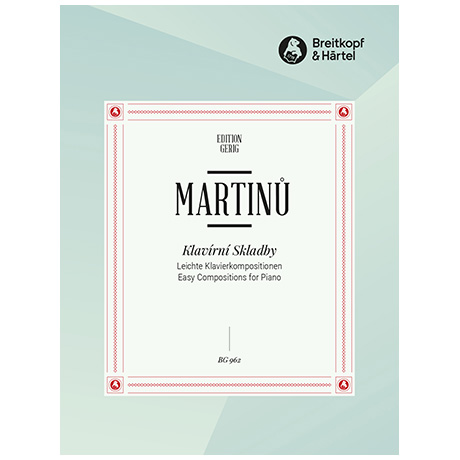 Martinu, B.: Leichte Klavierkompositionen