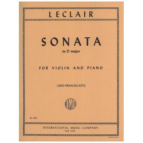 Leclair, J. M.: Violinsonate D-Dur