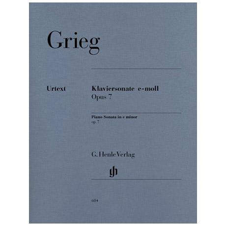 Grieg, E.: Klaviersonate e-Moll Op. 7