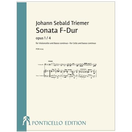 Triemer, J. S.: Violoncellosonate F-Dur Op. 1/4