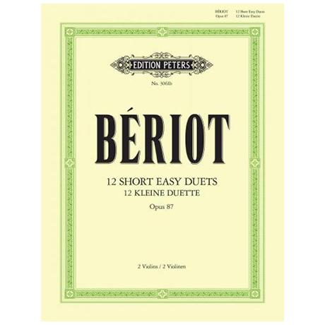 Bériot, Ch.d.: 12 petits duos faciles Op.87
