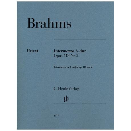 Brahms, J.: Intermezzo Op. 118 Nr. 2 A-dur