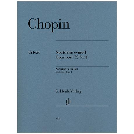 Chopin, F.: Nocturne Op. posth. 72/1 e-Moll