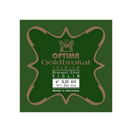 LENZNER-OPTIMA Goldbrokat Premium Brassed Violinsaite E
